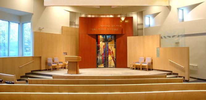 Interior Sanctuary with Ark Doors (photo Salo Levinas) & B\u0027nai Shalom Synagogue \u0027Ark Doors\u0027 - Ellen Mandelbaum